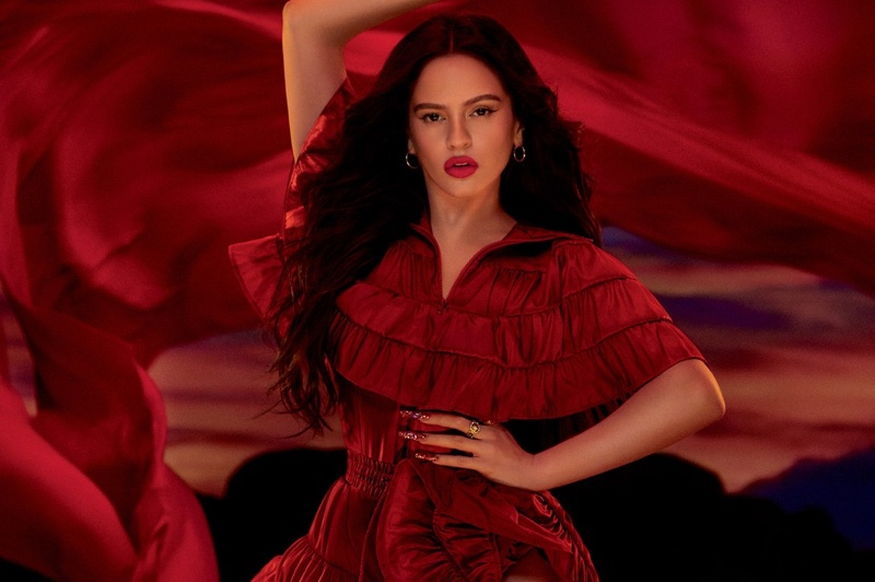 Rosalia poses for MAC Viva Glam 2020 campaign