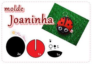 Molde Joaninha Em Feltro Chaveiro Molde Para Imprimir