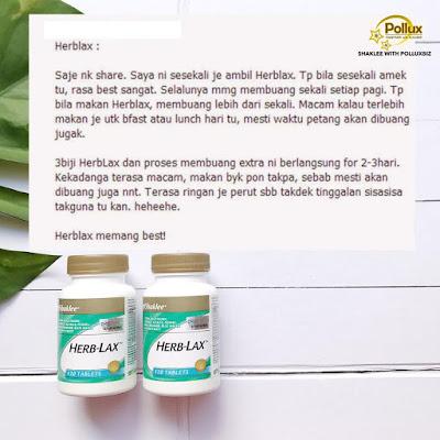 Herblax Shaklee Untuk Masalah Sembelit