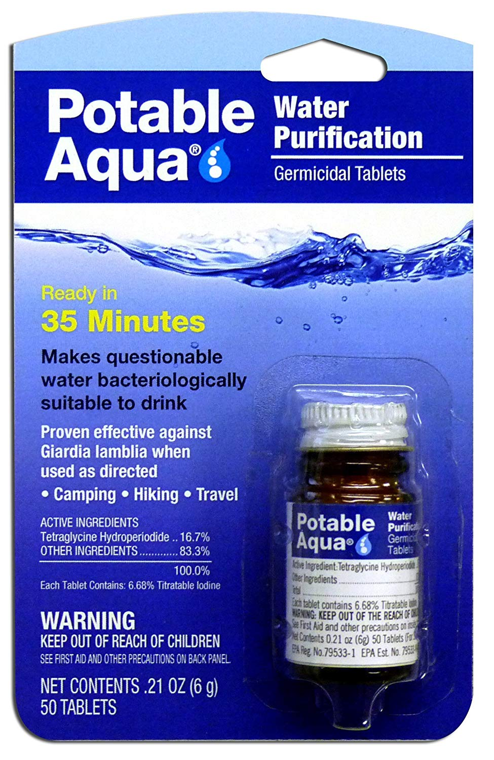 Water Purification Treatment (50 Tablets)