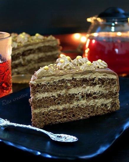 tort orzechowo kakaowy z nutellą