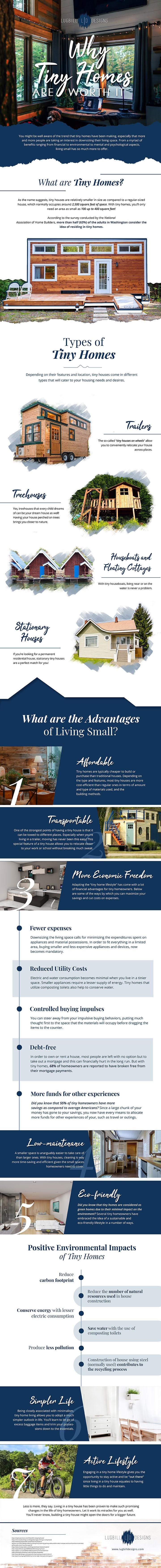 7 Reasons Why Tiny Homes are Worth It #infographic