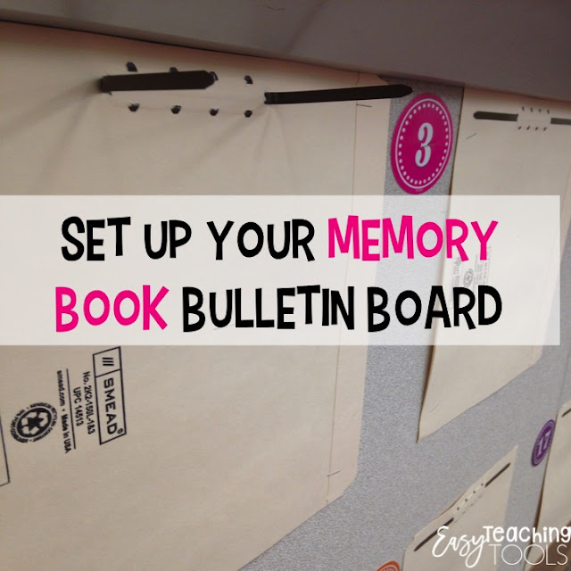 Enlist students and parents to help you take down any student work, take those pesky staples out of the walls, and put anything up for next year.  I love my memory book bulletin board the best and love to get it prepared ahead of time.