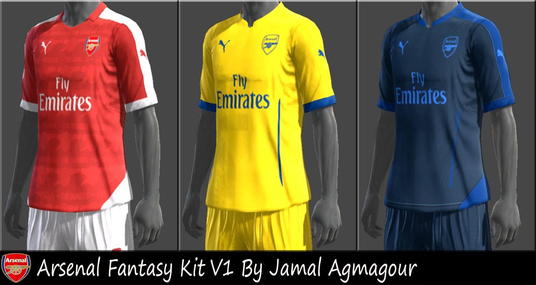 SANTARA PES: PES 2013 Arsenal Fantasy Kit V1 By Jamal Agmagour