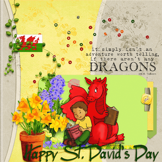 DSC # 160 Limited Runs Stamps + Happy St David's Day