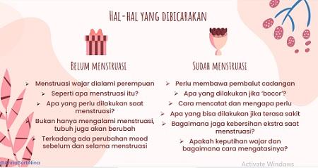cara membicarakan menstruasi dengan remaja