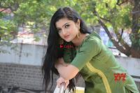 Akshitha cute beauty in Green Salwar at Satya Gang Movie Audio Success meet ~  Exclusive Galleries 030.jpg