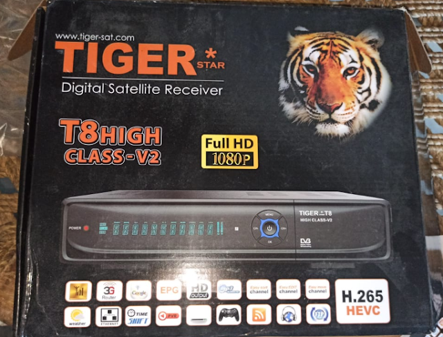 TIGER T8 HIGH CLASS V2 HD RECEIVER NEW SOFTWARE V3.94 FOREVER 135 OPTION