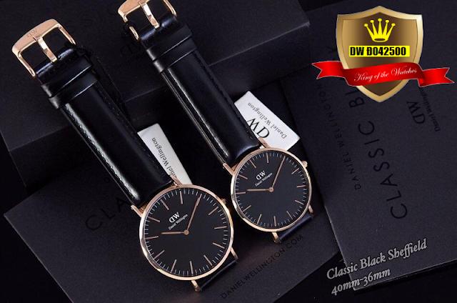 Đồng hồ cặp đôi dây da DW Đ042500