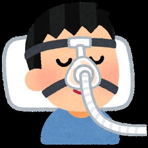 CPAPのマスクのイラスト(鼻)