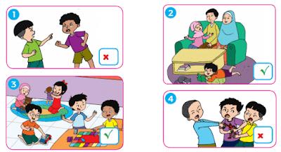 tanda centang perilaku yang menggambarkan kerukunan dan tanda x perilaku yang tidak menggamabarkan kerukunan www.simplenews.me
