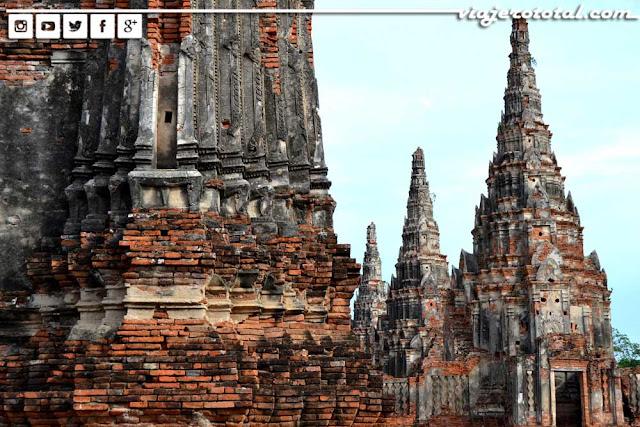 Templo Wat Chai Wattanaram - Ayhutthaya, Tailandia