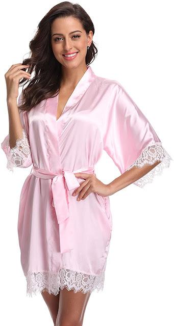 Silky Satin Bridal Robes For Bride or Bridesmaids