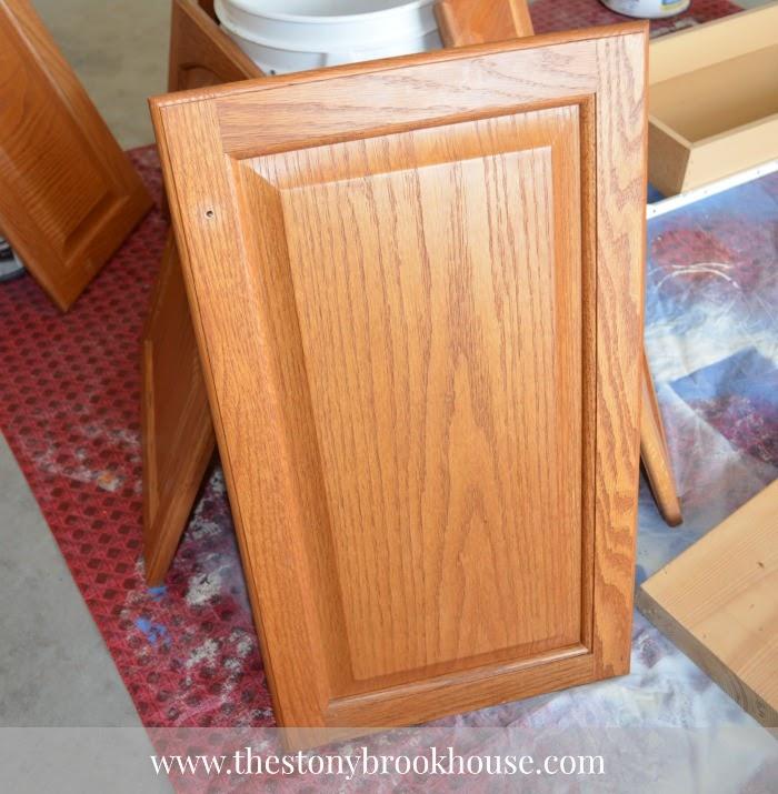 cabinet door lightly sanded