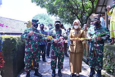 Dimasa Pandemi Covid-19 Desa Sedong Lor Diserbu Prajurit TNI