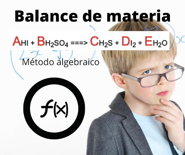Balanceando HI + H2SO4 => H2S + I2 + H2O ALGEBRAICO