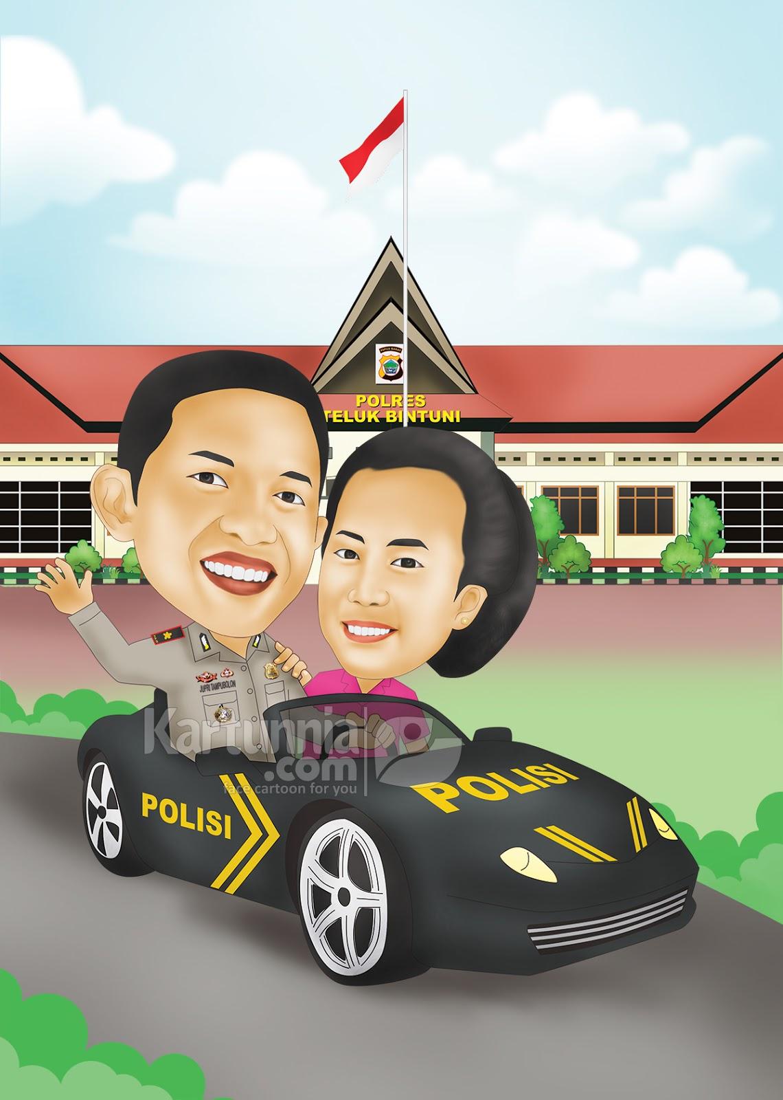 Karikatur Polisi Naik Mobil Kartunnia Com