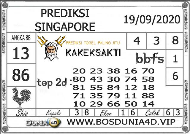 Prediksi Togel SINGAPORE DUNIA4D 19 SEPTEMBER 2020