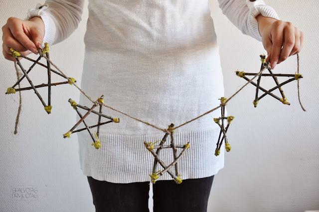 DIY Scandinavian Star from Twigs Decor idea   10 Last Minute DIY Christmas Decorations   Expressing Life