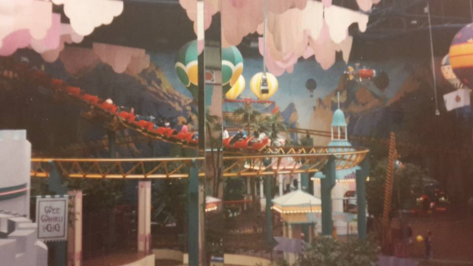 Remembering Metroland with Family Dining and the Kid's Menu at Pizza Express intu Metrocentre - Metroland rollercoaster