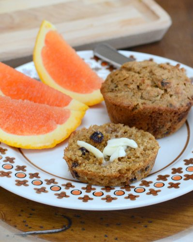 Make-Ahead Bran Muffin Batter ♥ KitchenParade.com, mix now, bake in small batches later, including a single microwave bran muffin in a mug.