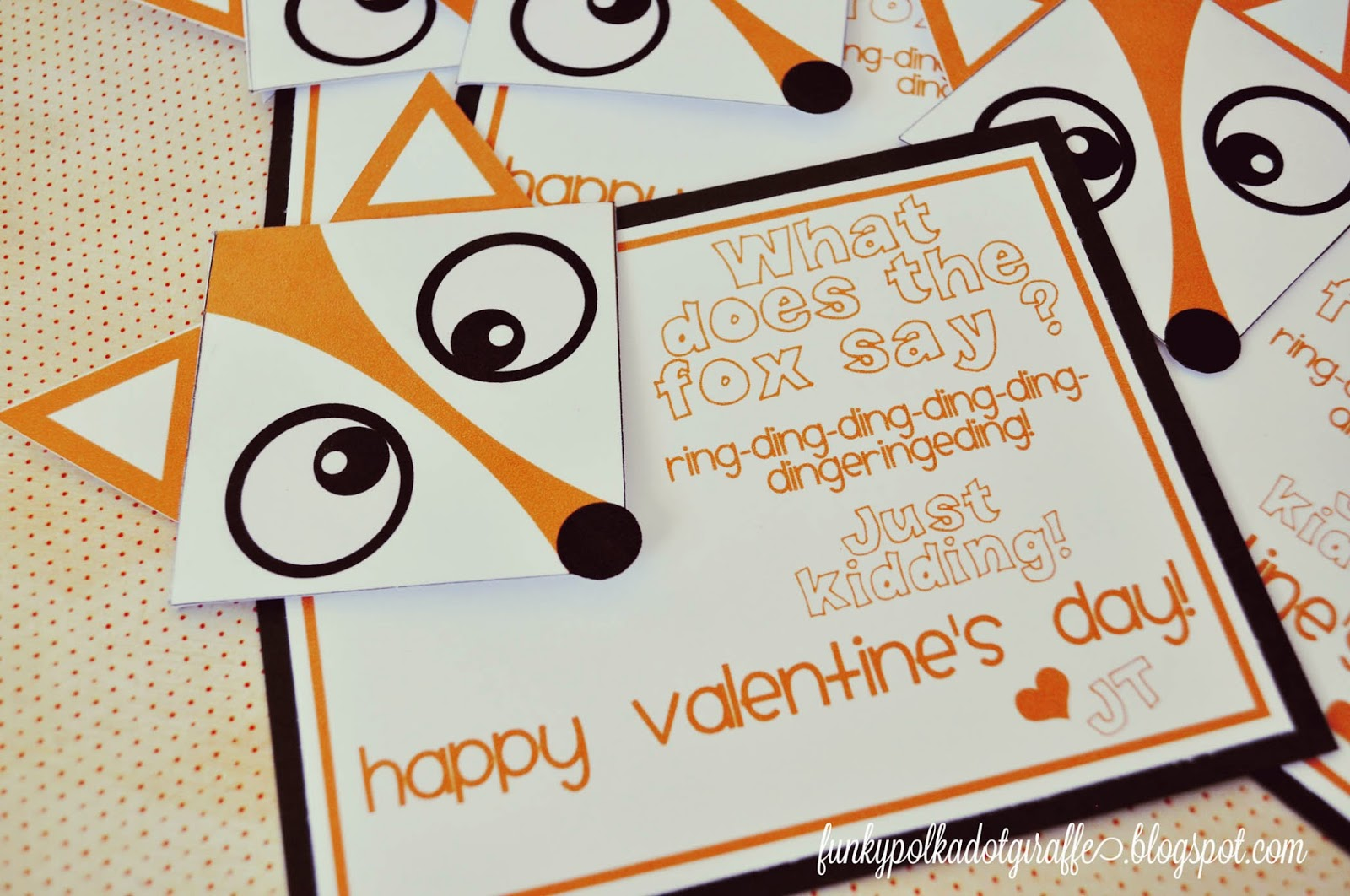 fox corner bookmark valentine