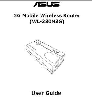 ASUS WL-330N3G Manual
