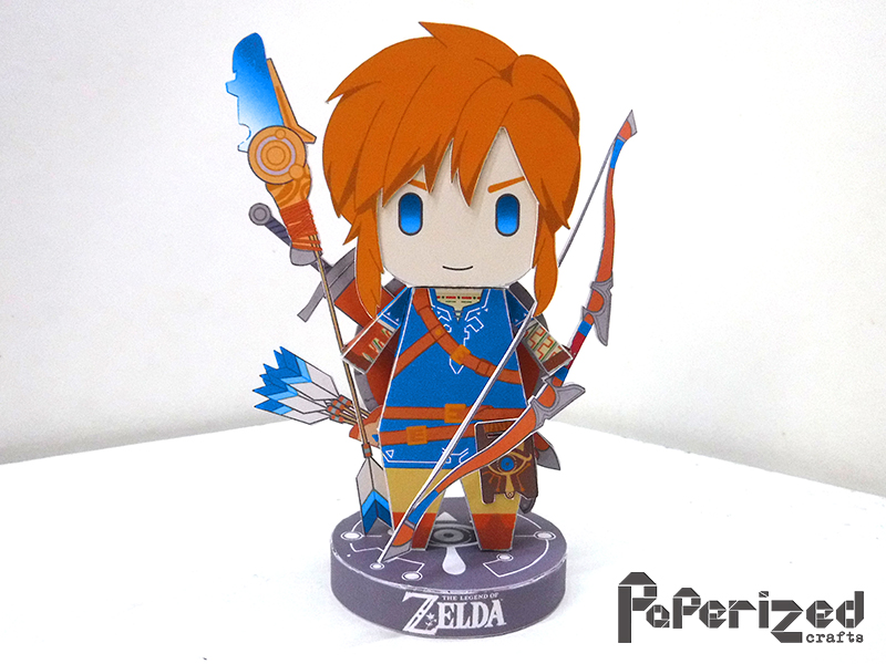the legend of zelda breath of the wild link papercraft