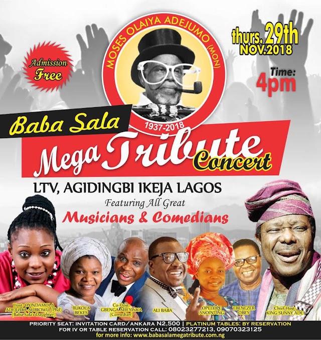 Mega Tribute Concert For 'Baba Sala' Holds November