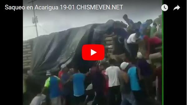 Otro camión de azúcar saqueado en Acarigua