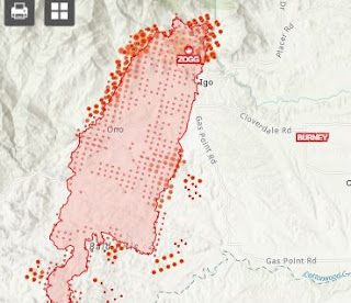 zogg fire and evacuation map