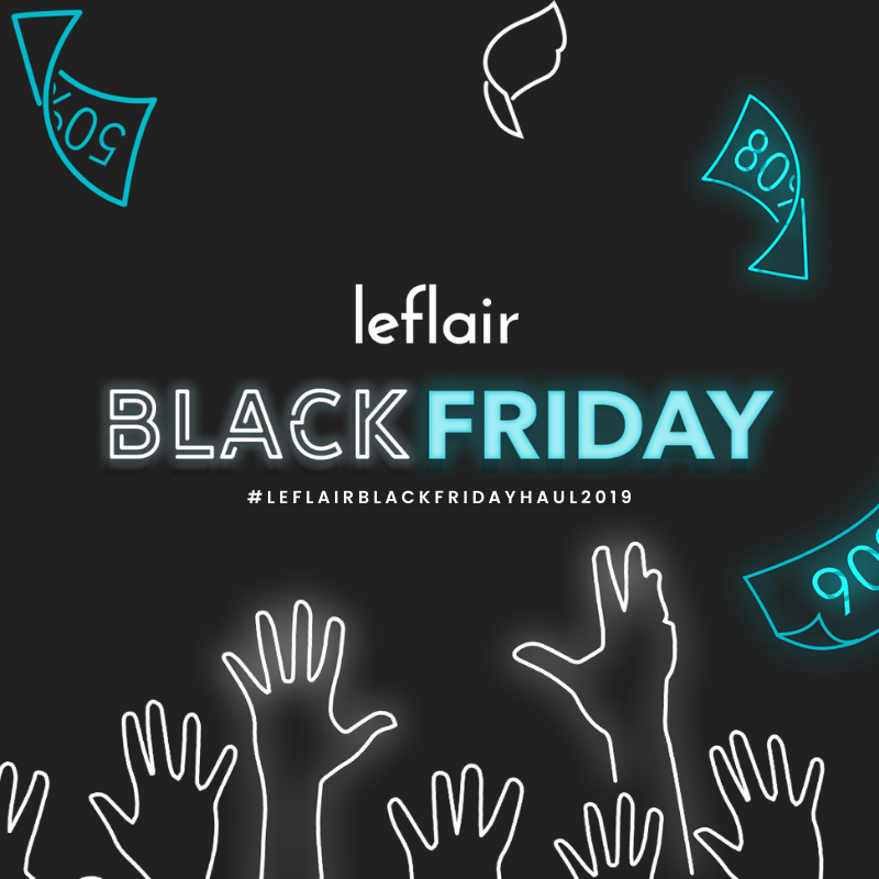 image of black friday sale poster of leflair philippines