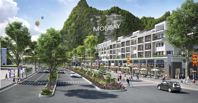 Khu Shophouse sầm uất tại dự án Mon Bay