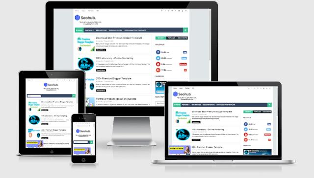 seo hub premium blogger template