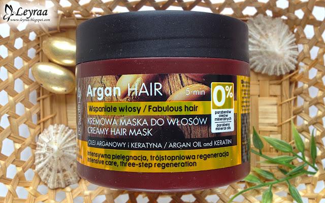 Dr. Sante, Argan Hair, kremowa maska do włosów - olej arganowy i keratyna