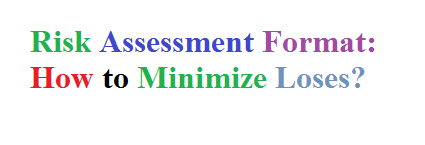 Risk Assessment Format How to Minimize Loses