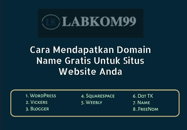 Cara Mendapatkan Domain Name Gratis Untuk Situs Website Anda