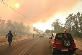 five people hospitalised in Greece wildfire
