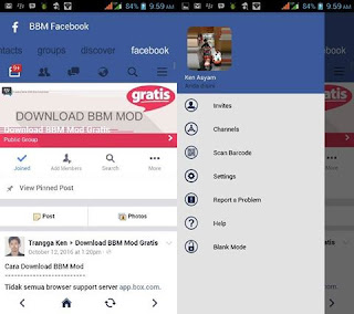 BBM Mod FBUI Simple Blue Facebook Theme v3.2.2.8 Apk