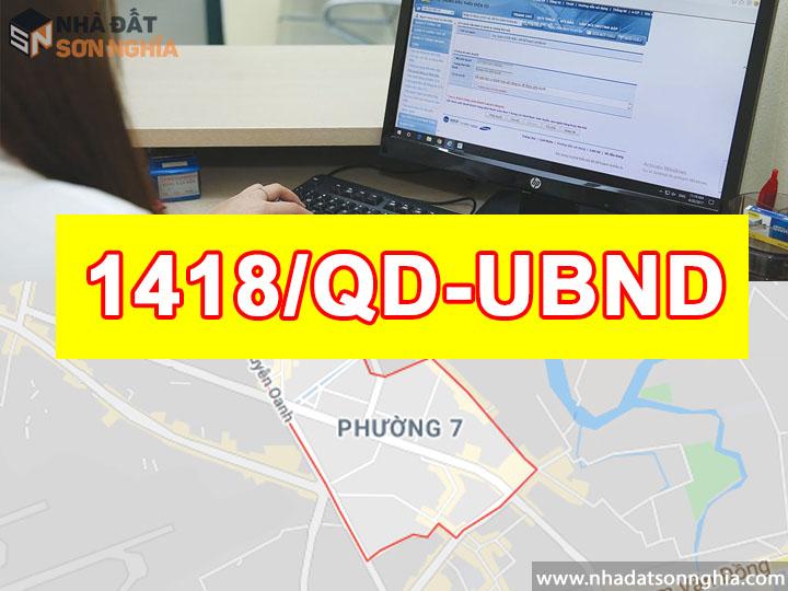 Quyết định số 1418/QĐ-UBND
