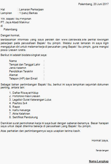 Download Format Lamaran Kerja Document Word