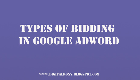 What are the types of bidding in Google Adwords