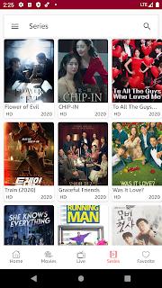 Movie Series tab light theme