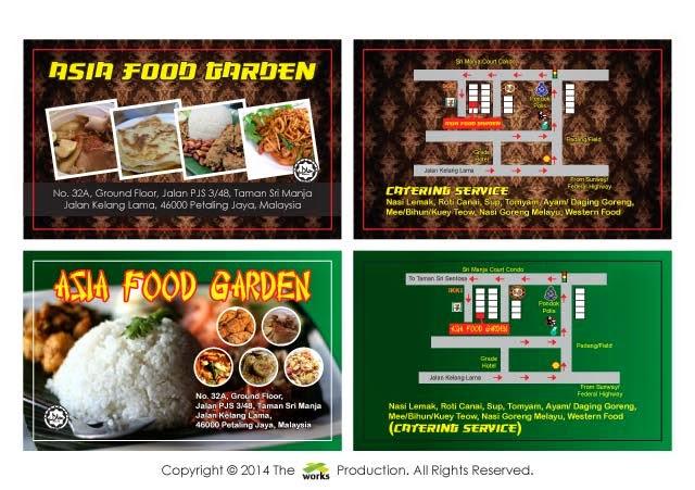 Xworks Business Card Design Asia Food Garden