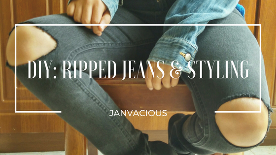DIY: Ripped Jeans & Styling - Blog Header