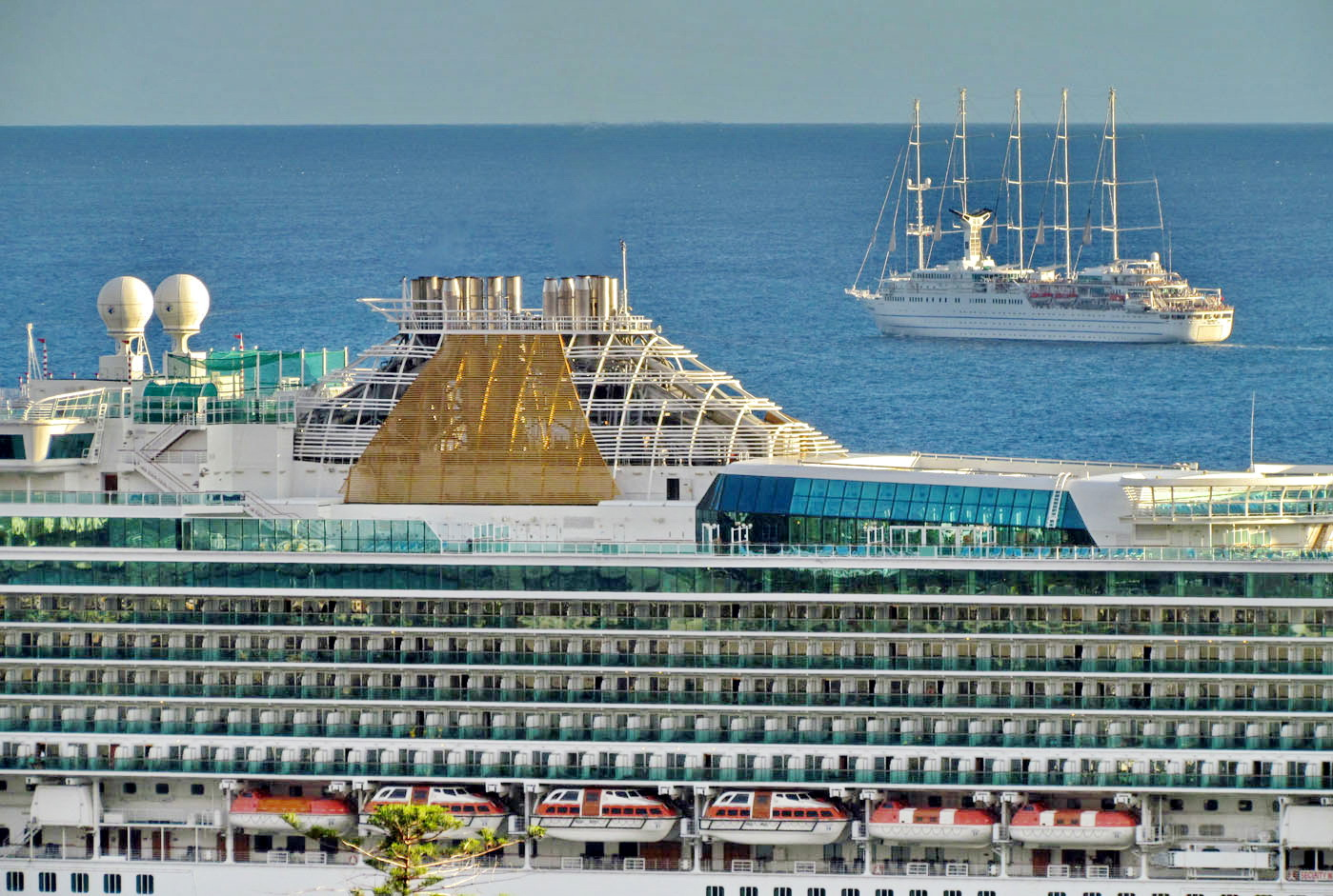different but both cruise ships