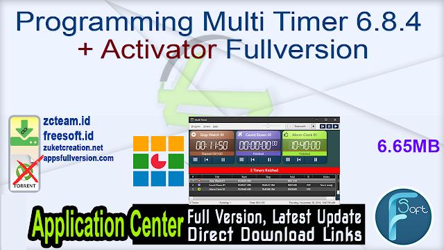 Programming Multi Timer 6.8.4 + Activator Fullversion