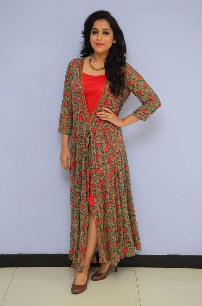TV Anchor Rashmi Gautam Hot Photos In Red Dress At Movie Song Launch