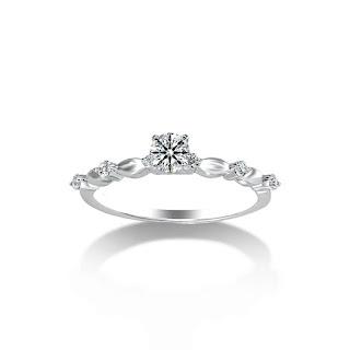 Nhẫn kim cương thời thượng, thanh lịch