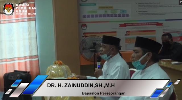Dr. H. Zaenuddin, SH. MH  Berharap Pelaksanaan Pilkada Selayar Bersih  Tanpa Tekanan